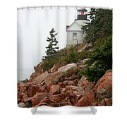 Bass Harbor Head Light Shower Curtain