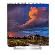 Beach Front Rain Shower Curtain by Marvin Spates