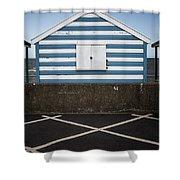 Beach Hut 41 Shower Curtain
