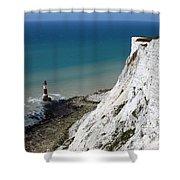 Beachy Head Cliffs And Lighthouse  Shower Curtain