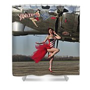 Beautiful 1940s Style Pin-up Girl Shower Curtain