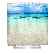 Beautiful Sea At Gili Meno - Indonesia Shower Curtain