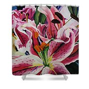 Becky's Lilies Shower Curtain