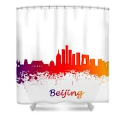 Beijing China Skyline  Shower Curtain