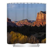 Bell Rock And Courthouse Butte Shower Curtain