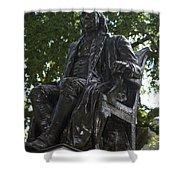 Benjamin Franklin Statue University Of Pennsylvania Shower Curtain