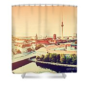 Berlin Germany View On Major Landmarks Shower Curtain