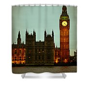 Big Ben And Houses Of Parliament Shower Curtain