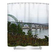 Big River Bridge Oregon Coast Shower Curtain
