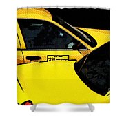 Big Yellow Taxis Shower Curtain
