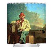 Bingham's Mississippi Boatman Shower Curtain