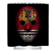 Blackhawks Jersey Mask Shower Curtain