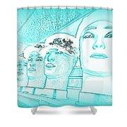 Blue Boys Shower Curtain