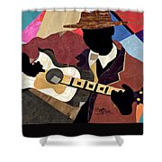 Blues Boy Shower Curtain
