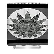 Bnw Black N White Star Ufo Art  Sprinkled Crystal Stone Graphic Decorations Navinjoshi  Rights Manag Shower Curtain