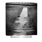 Boardwalk Through The Dunes Shower Curtain