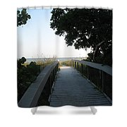 Boardwalk To The Beach Shower Curtain