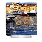 Boats At St.tropez Shower Curtain