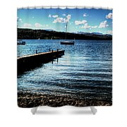 Boats In Wales Shower Curtain