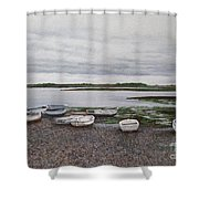 Boats On The Estuary Shower Curtain