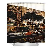 Boats On The Seine Shower Curtain
