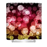 Bokeh Background Shower Curtain