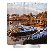 Bowling Harbour 02 Shower Curtain