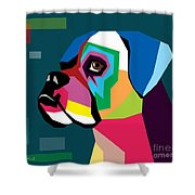 Boxer  Shower Curtain by Mark Ashkenazi