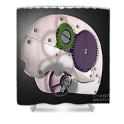 Brain Mechanism Shower Curtain