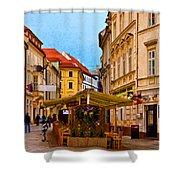 Bratislava Old Town Shower Curtain
