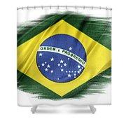 Brazilian Flag  Shower Curtain