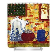 Breakfast With Pearl Jam Shower Curtain