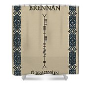 Brennan Written In Ogham Shower Curtain