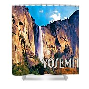 Bridal Veil Falls Yosemite National Park Shower Curtain