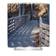 Bridge To The Forest Shower Curtain