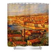 Bridges Of Florence Shower Curtain