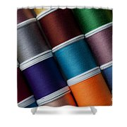 Bright Colored Spools Of Thread Shower Curtain