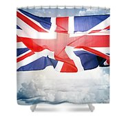 British Flag 3 Shower Curtain