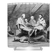 British Prison Ship, 1770s Shower Curtain