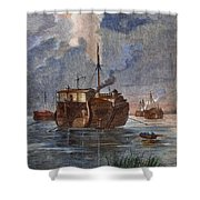 British Prison Ship Shower Curtain