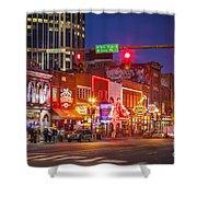Broadway Street Nashville Shower Curtain