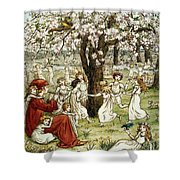 Browning: Pied Piper Shower Curtain