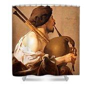 Brugghen's Bagpiper Player Shower Curtain