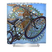 Bsa Parabike Shower Curtain by Mark Jones