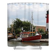 Buesum Lighthouse - North Sea - Germany Shower Curtain