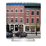 Buildings Along A Street, Thomaston Shower Curtain