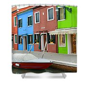 Burano Italy Shower Curtain