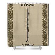 Byrne Written In Ogham Shower Curtain