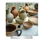Byzantine Pottery Shower Curtain