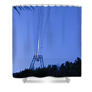 Cableway In Long Exposure Shower Curtain